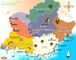 Carte Provence, avec images naïves